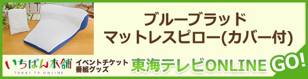 東海テレビONLINE(いちばん本舗)ブルーブラッドマットレスピロー