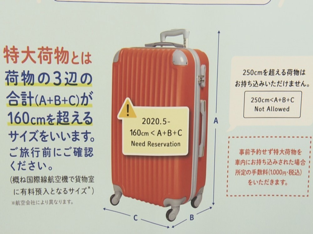 新幹線 スーツ ケース サイズ