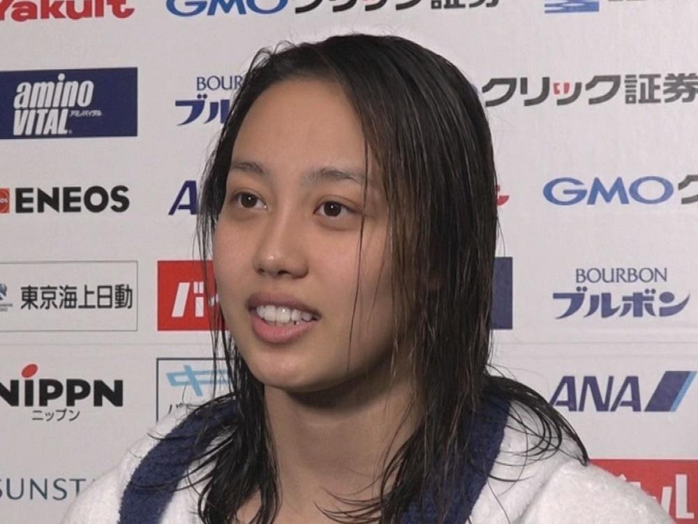 同級生 池江選手の応援も力に 競泳 今井月が日本学生選手権で 復活の